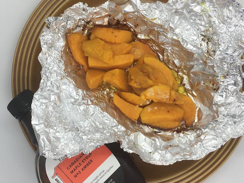 vegetarian bbq uk - maple sweet potatoes