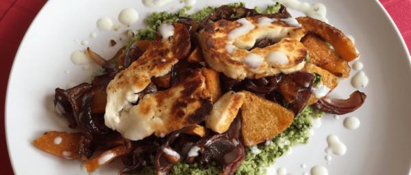Halloumi Squash Salad