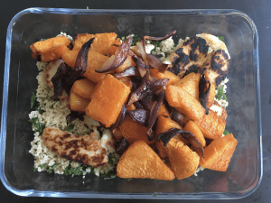 halloumi squash salad pack lunch