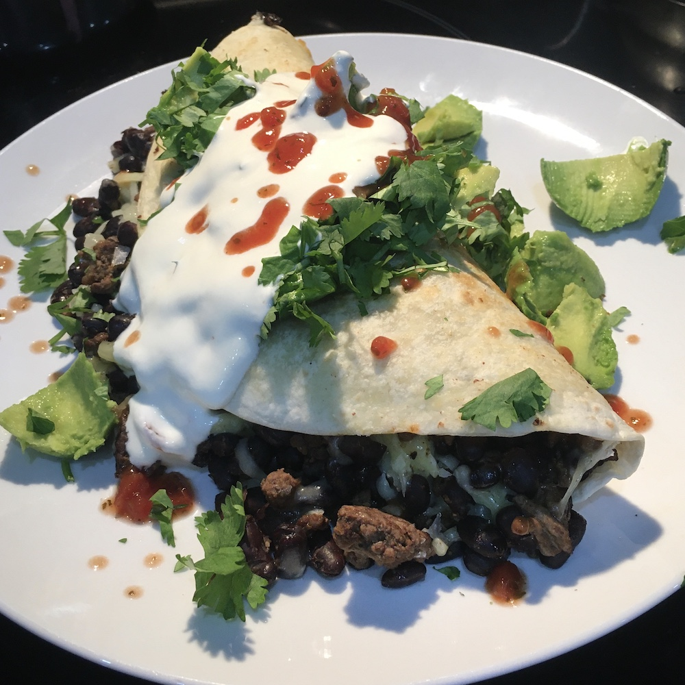 beef burrito recipe finished