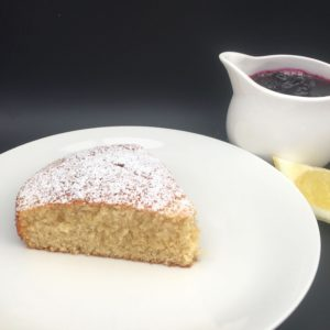 lemon drizzle cake slice