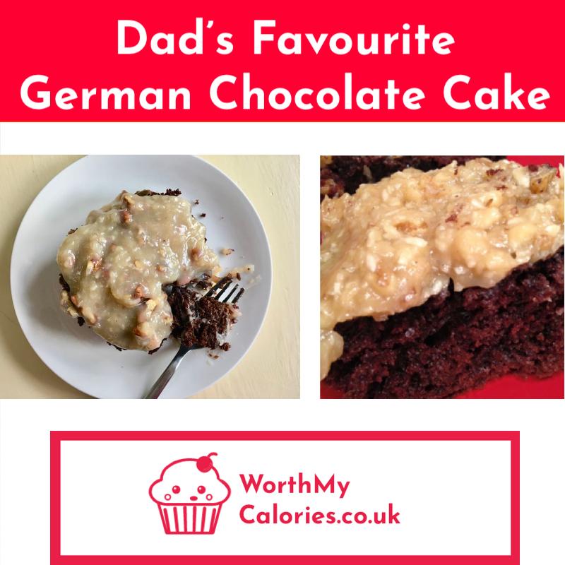 german chocolate cake pinterest image
