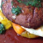 mushroom halloumi burger