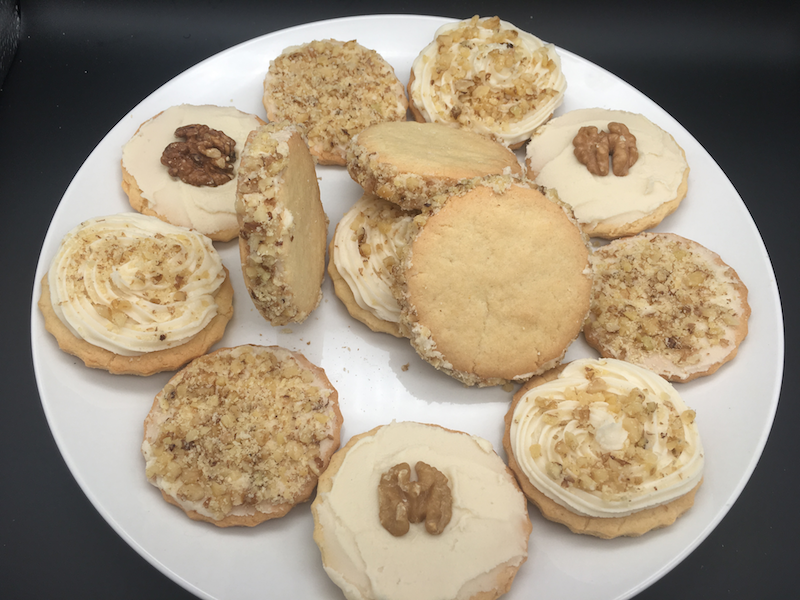 maple walnut decorated cookies