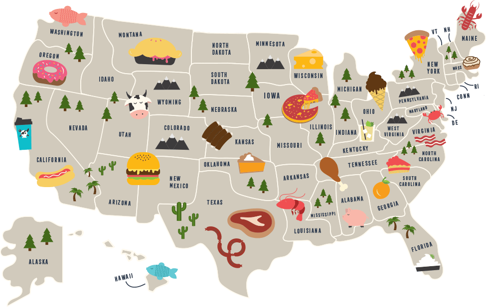 typical american food by state