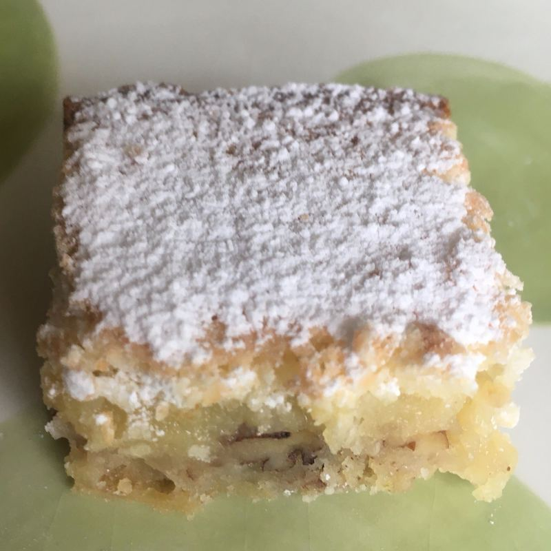 key lime cake slice