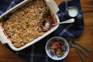Bryony's Kitchen Apple, Blackberry & Sloe Gin Crumble Recipe