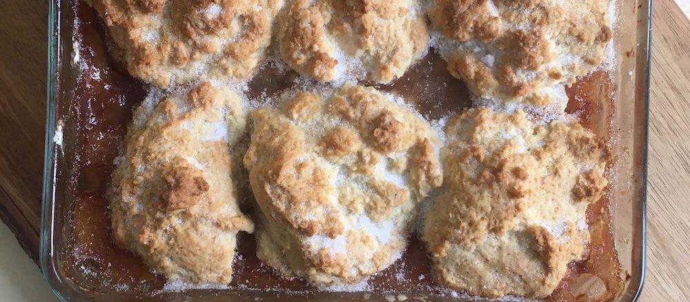 american peach cobbler recipe finished