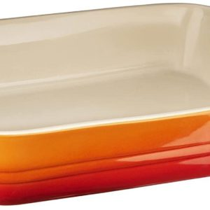 le creuset baking dish orange