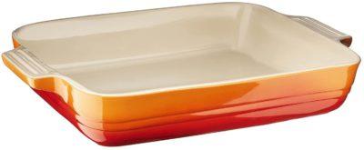 le creuset baking dish orange