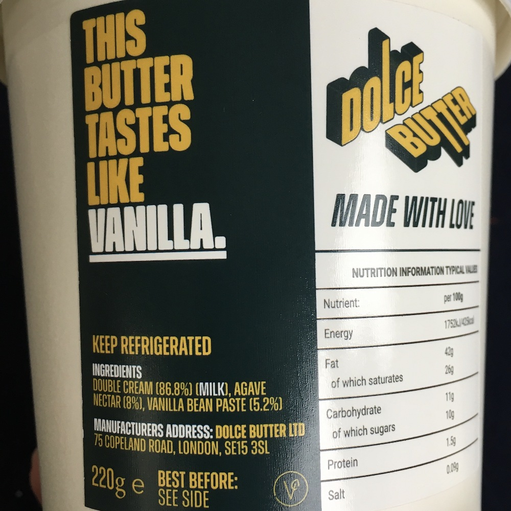 dolce butter vanilla flavour