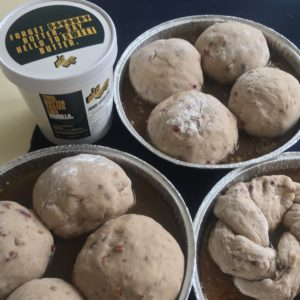 hot cross buns recipe step second rise